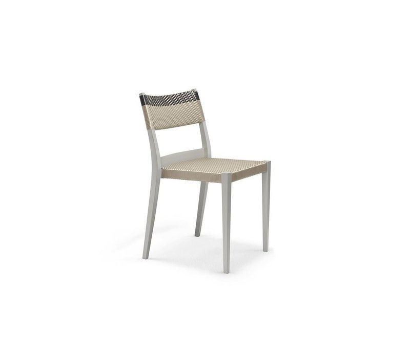 PLAY SIDE CHAIR IN CHALK AND CARBON