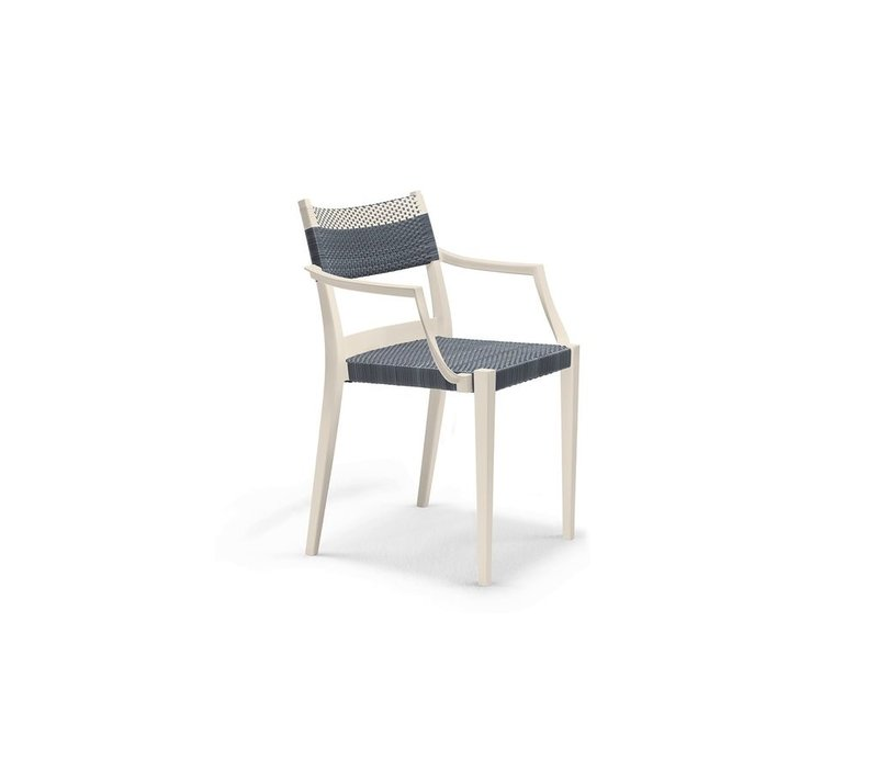 PLAY ARM CHAIR IN STONE AND CHALK
