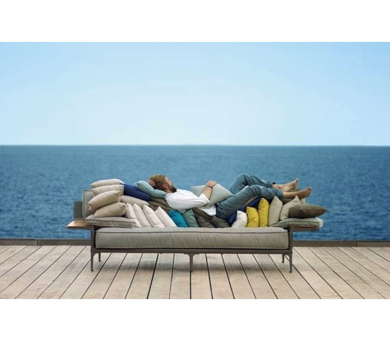 RAYN 3-SEATER SOFA WITH LEFT AND RIGHT ARMREST IN COLOR VENETO