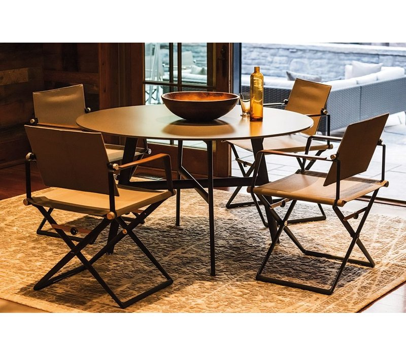 SEAX 55 DINING TABLE WITH BLACK BASE AND EBONY TABLE TOP
