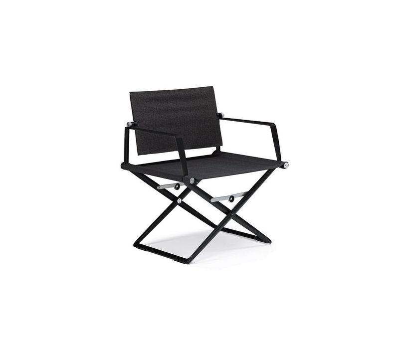 SEAX LOUNGE CHAIR WITH BLACK FRAME AND TAUPE TEXTILE
