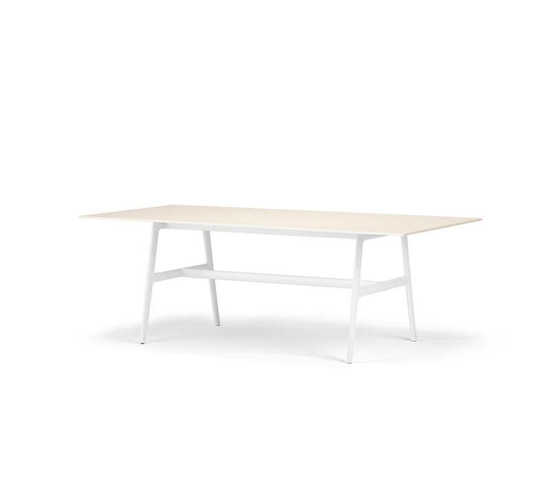 SEAX 39x87 DINING TABLE WITH  BLACK FRAME AND WHITE TABLE TOP
