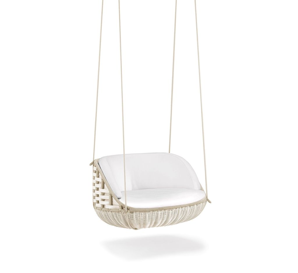 dedon swingme hanging lounge chair in chalk kolo collection. Black Bedroom Furniture Sets. Home Design Ideas