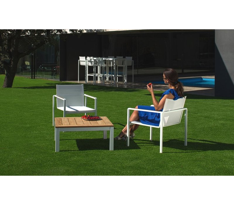 ALURA RELAX CHAIR / ANTHRACITE COATED ALUMINUM / BLACK BATYLINE