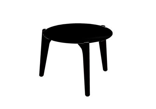 ROYAL BOTANIA TEA TIME 16 INCH ROUND LOW SIDE TABLE - ANTHRACITE ALUMINUM FRAME - BLACK CERAMIC TOP