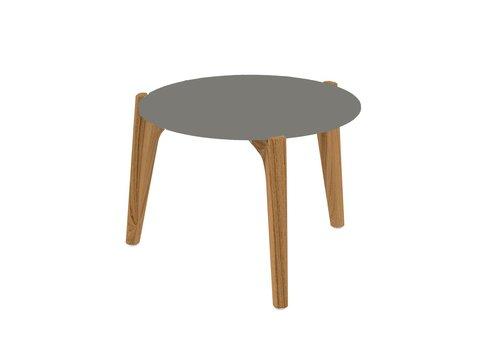 ROYAL BOTANIA TEA TIME LOW SIDE TABLE - TEAK FRAME - CERAMIC TOP
