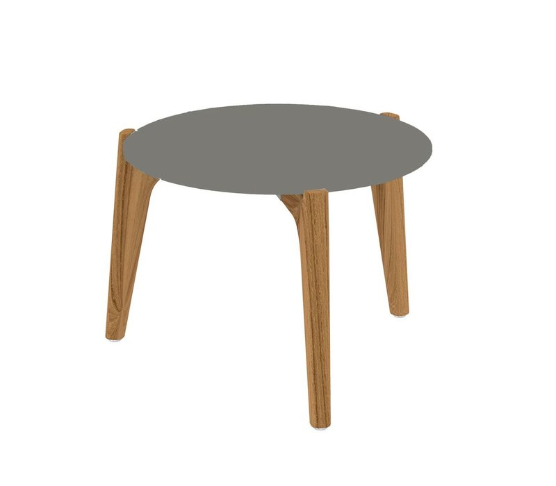 TEA TIME LOW SIDE TABLE - TEAK FRAME - CERAMIC TOP