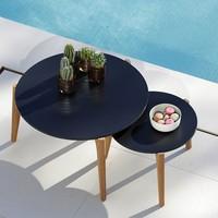 TEA TIME LOW TABLE - ANTHRACITE FRAME - BLACK CERAMIC TOP