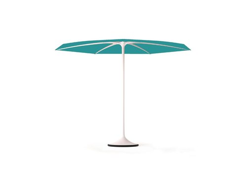 ROYAL BOTANIA PALMA UMBRELLA - WHITE COATED ALUMINUM FRAME - AQUA COLOR CANOPY