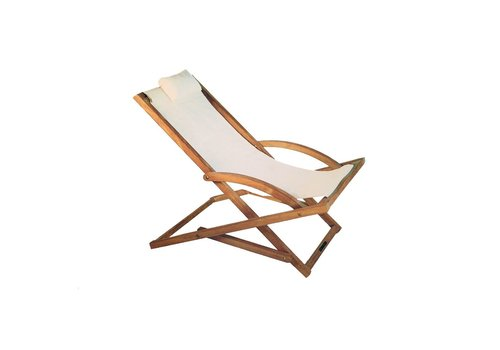 ROYAL BOTANIA BEACHER FOLDING RELAX CHAIR - WHITE BATYLINE