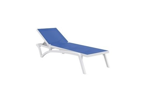 SIESTA PACIFIC SLING CHAISE / WHITE FRAME / BLUE SLING