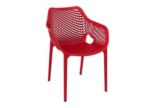 SIESTA AIR XL OUTDOOR DINING ARM CHAIR / RED