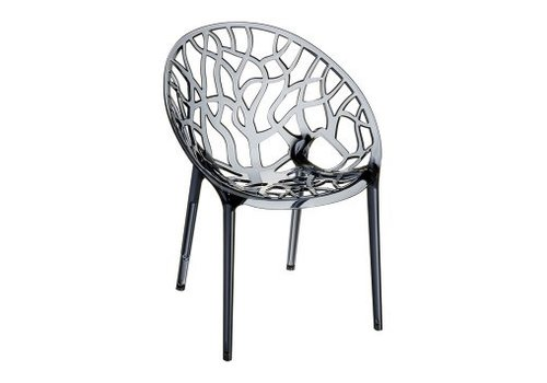 SIESTA CRYSTAL CHAIR   TRANSPARENT GRAY