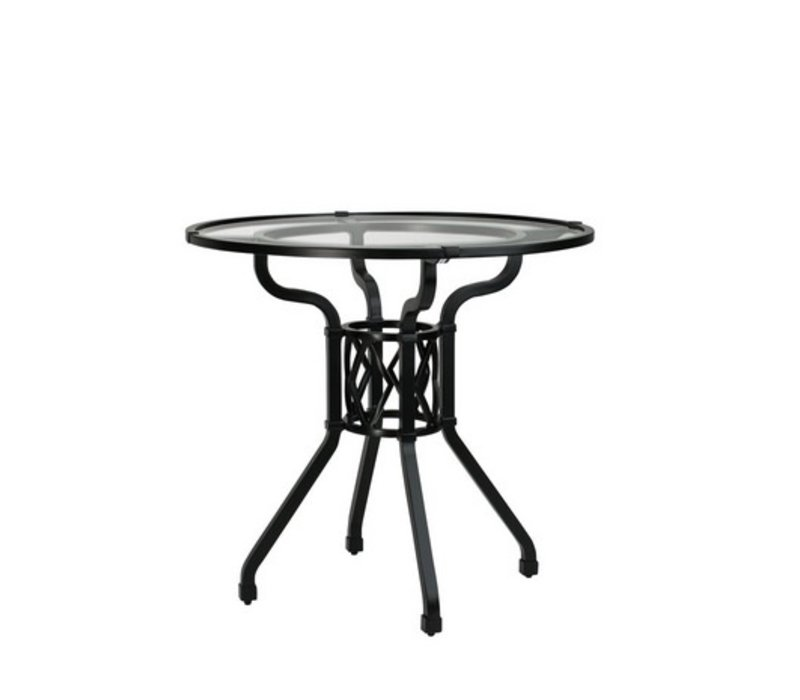 """VENETIAN 30"""" ROUND PEDESTAL DINING TABLE W/ GLASS TOP"""