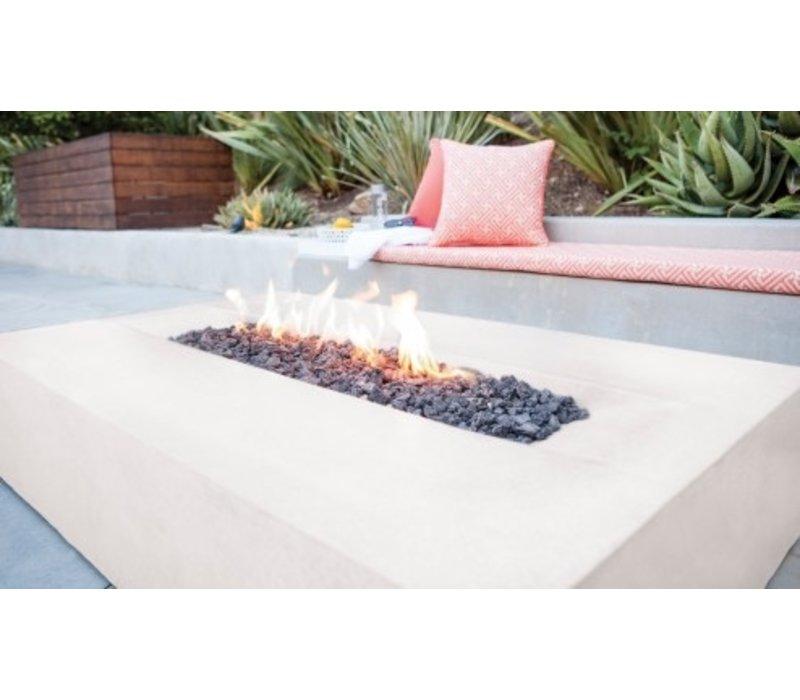 FLO BIOETHANOL FIRE TABLE IN BONE FINISH