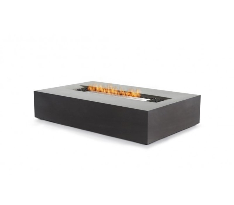 FLO BIOETHANOL FIRE TABLE IN GRAPHITE FINISH