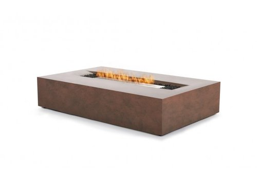 FLO BIOETHANOL FIRE TABLE IN RUST FINISH