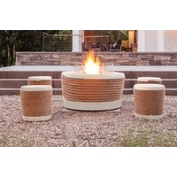 LOOP BIOETHANOL FIRE ELEMENT IN BONE COLOR FINISH