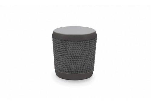 LOOP STOOL OR SIDE TABLE-GRAPHITE