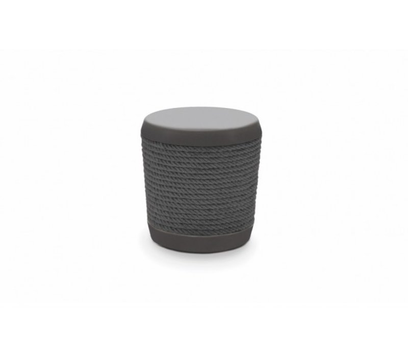 LOOP STOOL OR SIDE TABLE-GRAPHITE