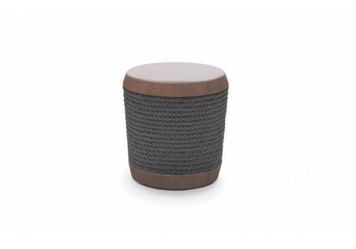 LOOP STOOL OR SIDE TABLE-RUST