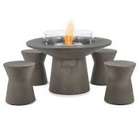 MESA BIOETHANOL FIRE TABLE IN NATURAL