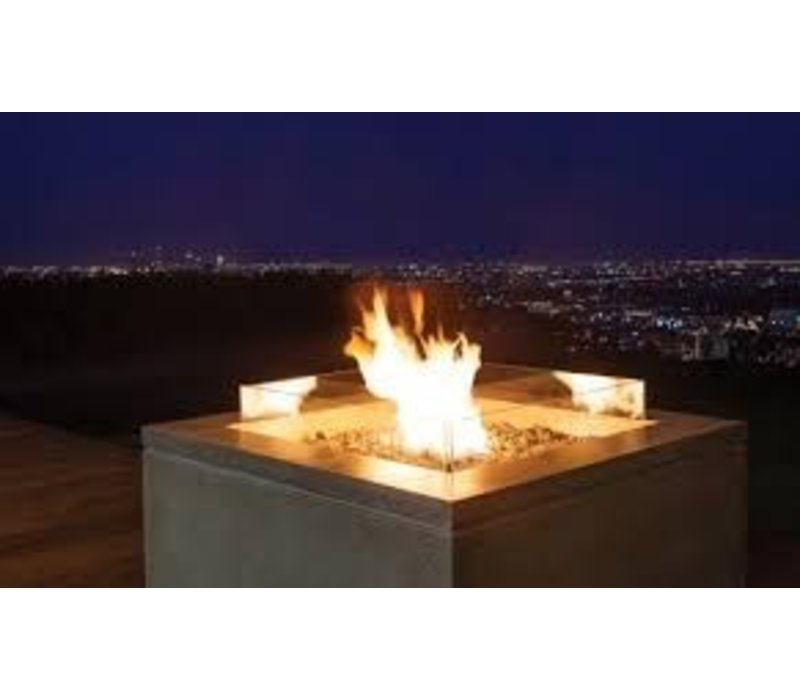 QUAD BIOETHANOL FIRE TABLE IN GRAPHITE