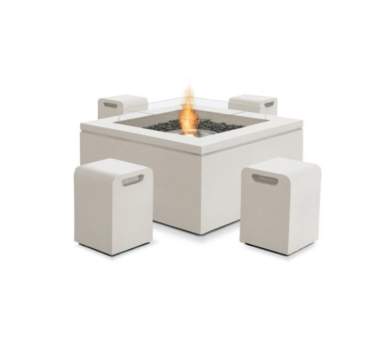 QUAD LP/NG FIRE TABLE IN BONE
