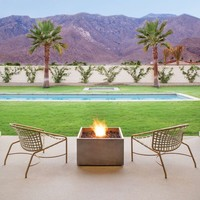 RISE BIOETHANOL FIRE PIT IN RUST