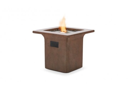 STRATA BIOETHANOL FIRE TABLE IN RUST