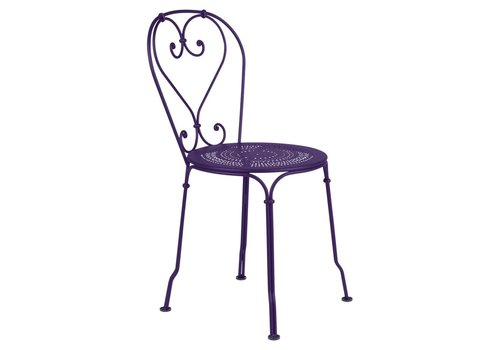 FERMOB 1900 STACKING SIDE CHAIR, POWDER COATED STEEL