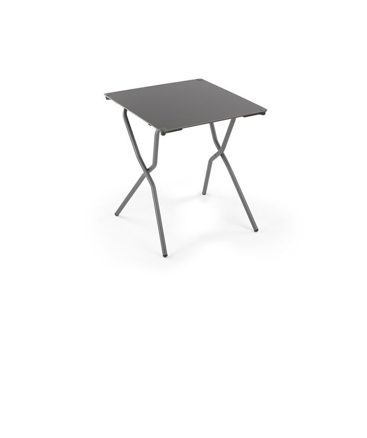 Lafuma anytime folding dining table square titane hpl - Lafuma camping table ...