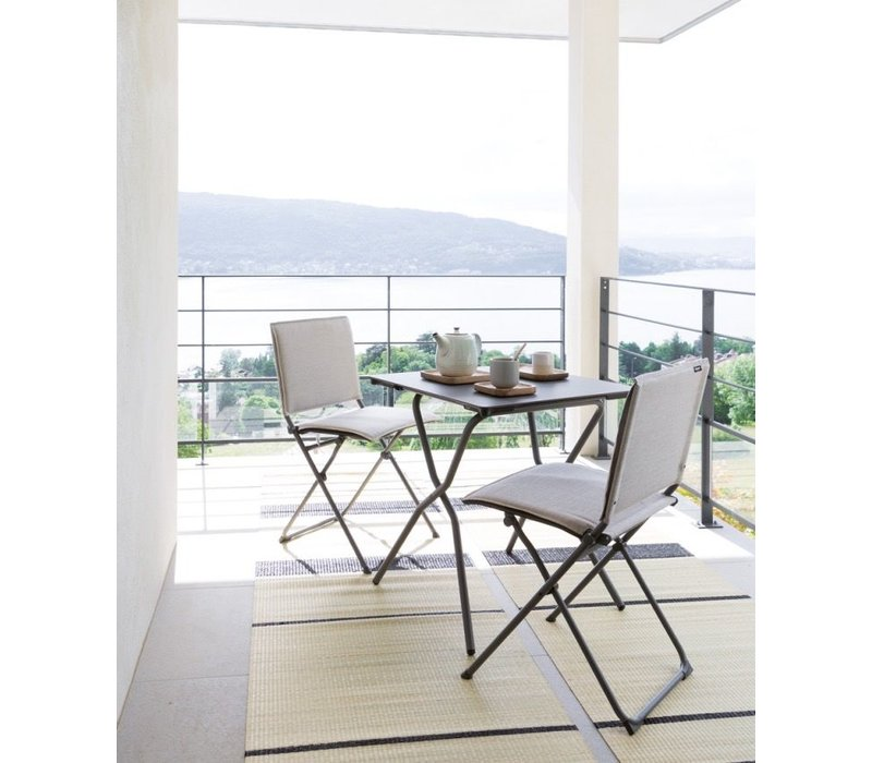 ANYTIME FOLDING DINING TABLE SQUARE - TITANE HPL TOP