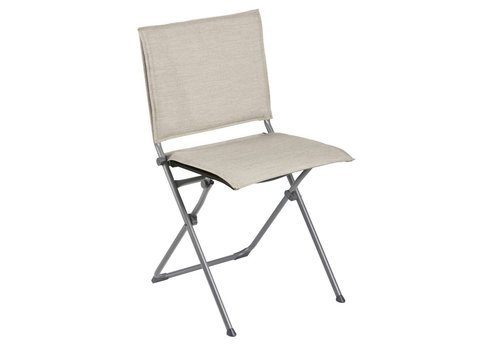 LAFUMA ANYTIME FOLDING DINING SIDE CHAIR / LATTE SLING