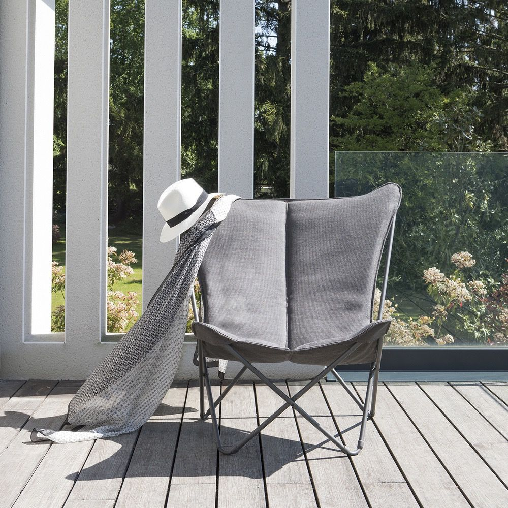 Delightful SPHINX FOLDING LOUNGE CHAIR / EXPRESSO