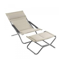 TRANSABED FOLDING LOUNGER DECKCHAIR / LATTE