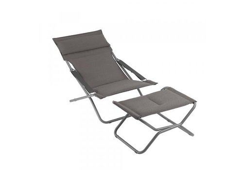 LAFUMA TRANSABED FOLDING LOUNGER DECKCHAIR / EXPRESSO