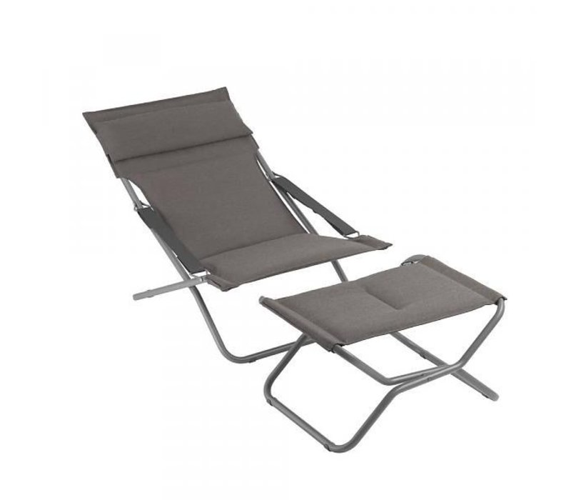 TRANSABED FOLDING LOUNGER DECKCHAIR / EXPRESSO