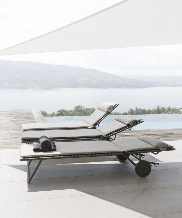 lafuma miami sun lounger marina kolo collection. Black Bedroom Furniture Sets. Home Design Ideas