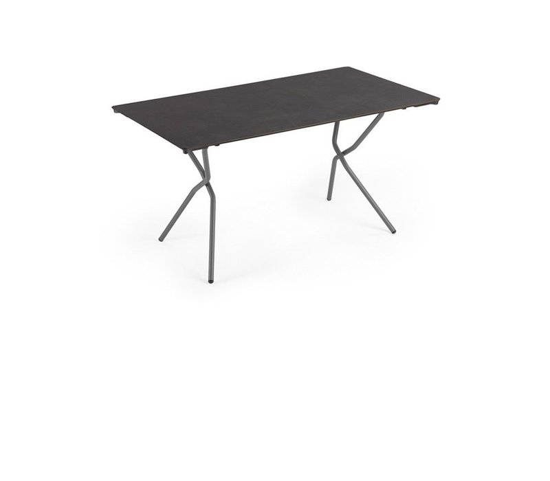 Lafuma anytime big rectangular folding table volcanic - Lafuma camping table ...