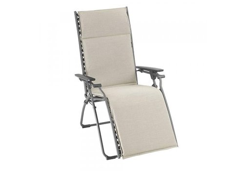 LAFUMA EVOLUTION RECLINING LOUNGE CHAIR / LATTE