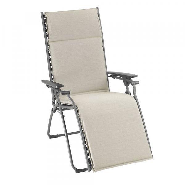 Lafuma Evolution Reclining Lounge Chair Latte Kolo