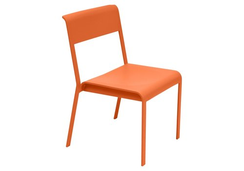 FERMOB BELLEVIE STACKING DINING CHAIR IN POWDER COATED ALUMINUM