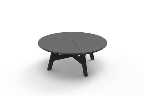 SEASIDE CASUAL DEX ROUND CHAT TABLE - CHARCOAL