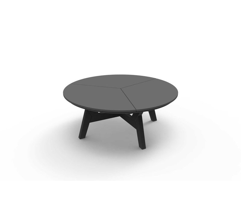 DEX 40 INCH ROUND ROUND CHAT TABLE - CHARCOAL