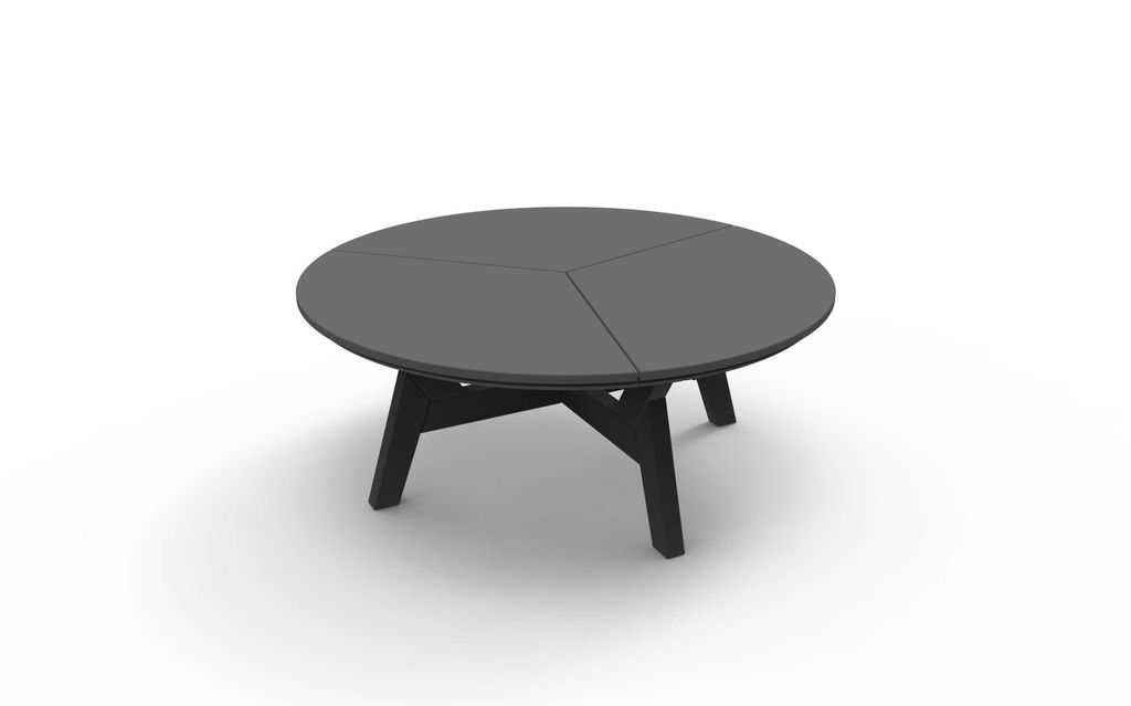 DEX 40 INCH ROUND ROUND CHAT TABLE   CHARCOAL
