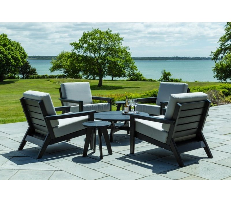 DEX ROUND CHAT TABLE - CHARCOAL
