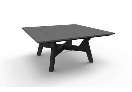 SEASIDE CASUAL DEX 36 INCH SQUARE CHAT TABLE - CHARCOAL