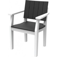 MAD FUSION DINING ARM CHAIR - GRAY FRAME / NAVY SLATS