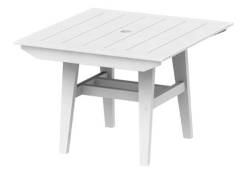 SEASIDE CASUAL MAD DINING TABLE 40x40 SQUARE - WHITE